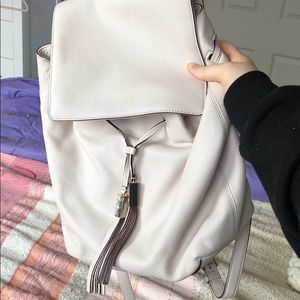 Kate Spade leather backpack in pale blush
